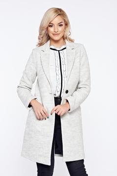 Easy cut Top Secret lightgrey casual elegant straight coat