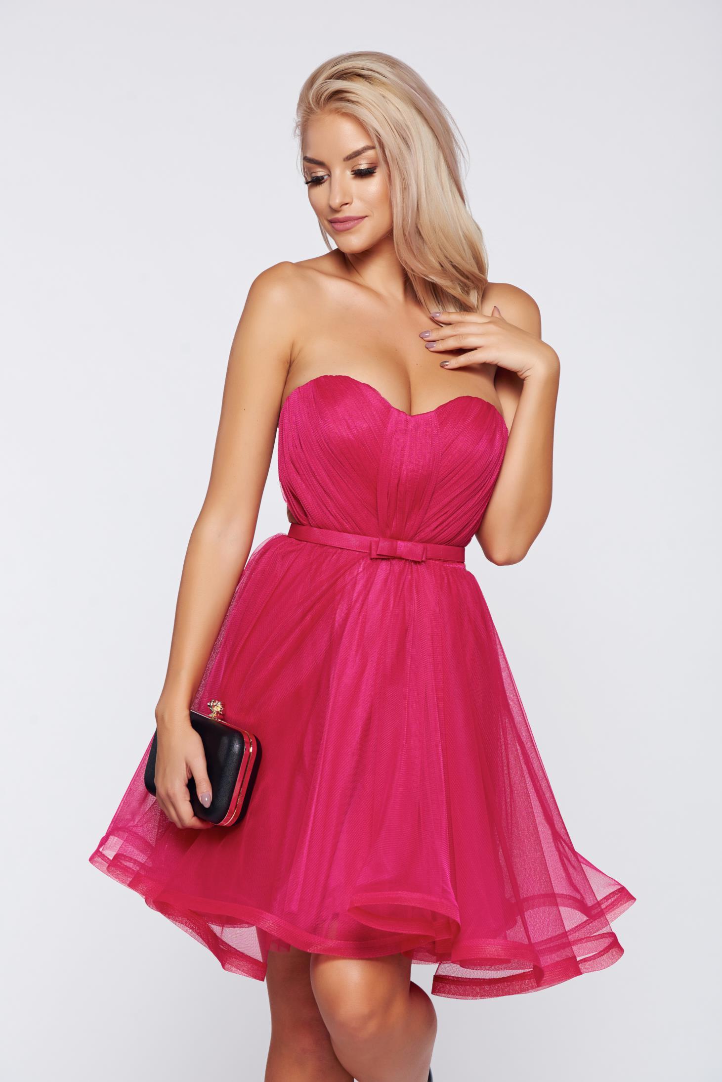 9afa7507d6 Pink alkalmi Ana Radu fűzős ruha szivacsos mellrész