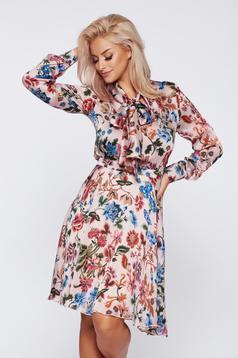 PrettyGirl elegant rosa daily dress from voile fabric