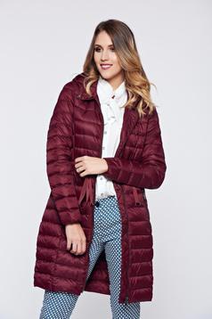 Top Secret midi burgundy casual slicker jacket