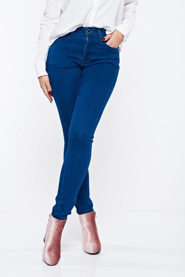 Top Secret blue casual conical trousers with medium waist