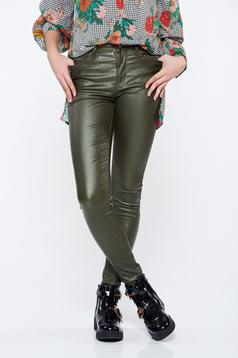 Top Secret green casual conical trousers with medium waist