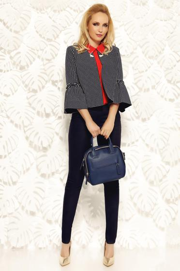 Fofy office elegant darkblue jacket with dots print