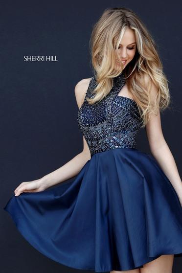 Sherri Hill 51302 DarkBlue Dress