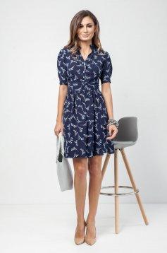 PrettyGirl cloche darkblue daily dress with floral print