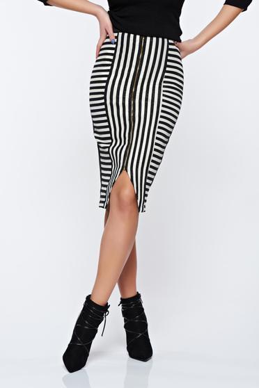 StarShinerS black casual pencil skirt with medium waist