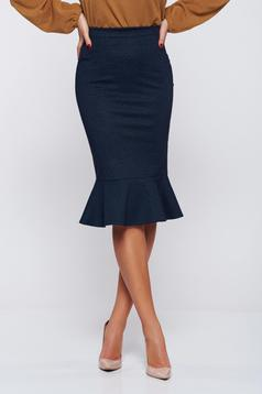 StarShinerS FALL in love darkblue office skirt with ruffle details