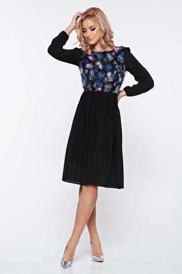 StarShinerS black occasional cloche bareback dress