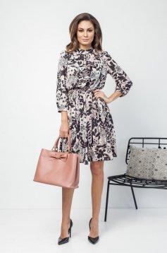 Flared PrettyGirl rosa daily dress 3/4 sleeve