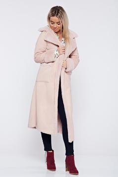 Rosa elegant straight coat with pockets
