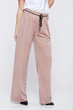 Easy cut rosa casual trousers elastic waist