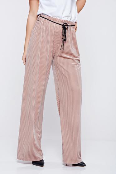 Easy cut rosa casual trousers elastic waist