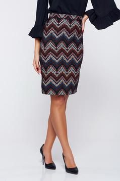 StarShinerS FALL in love darkblue office pencil skirt