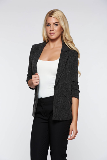 Top Secret black office flared jacket from cloth