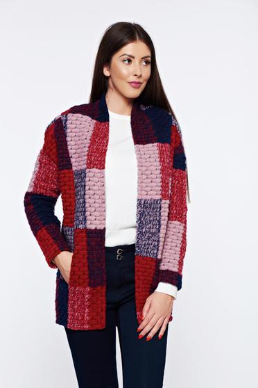 Top Secret darkblue casual knitted wool cardigan