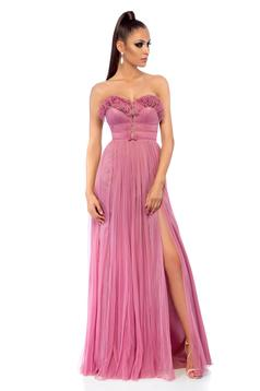 Ana Radu rosa occasional long dress with push-up cups