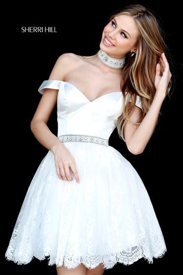 Sherri Hill 51385 White Dress