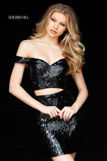 Sherri Hill 51411 Black Dress