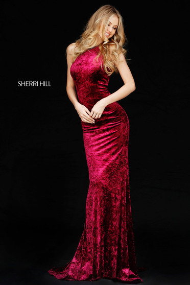 Sherri Hill 51424 Burgundy Dress