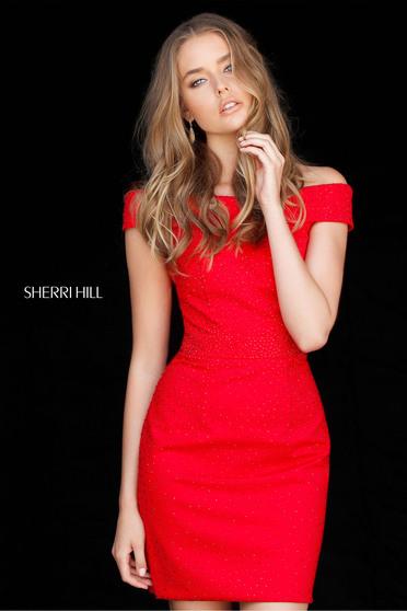 Sherri Hill 51425 Red Dress