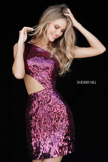 Sherri Hill 51497 Magenta Dress