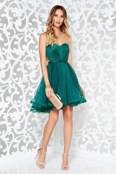 Ana Radu green occasional corset dress with push-up cups