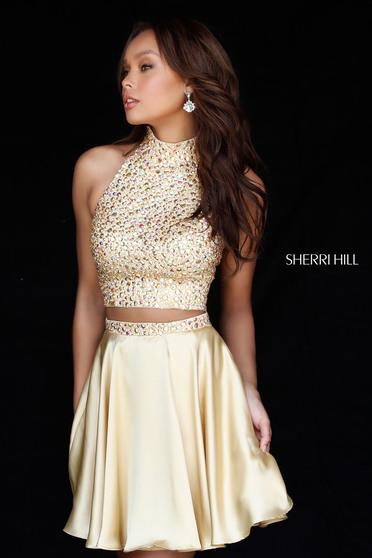Sherri Hill 51540 Gold Dress