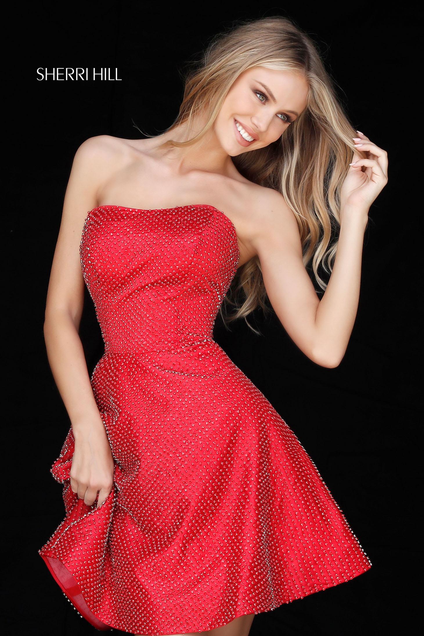 Rochie Sherri Hill 51546 Red