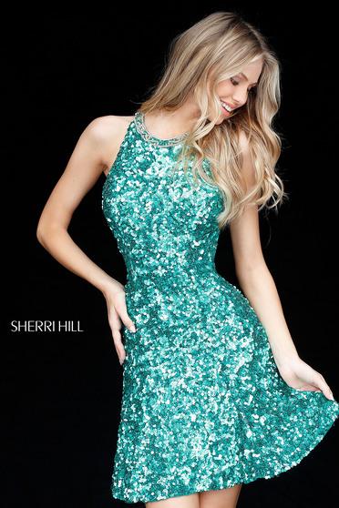 Sherri Hill 51431 Green Dress