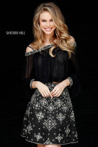 Sherri Hill 51357 Black Dress
