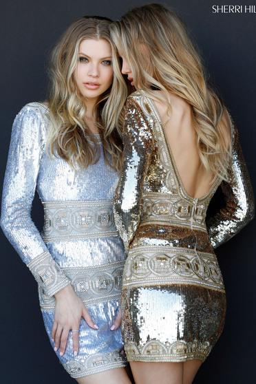 Sherri Hill 51359 Gold Dress