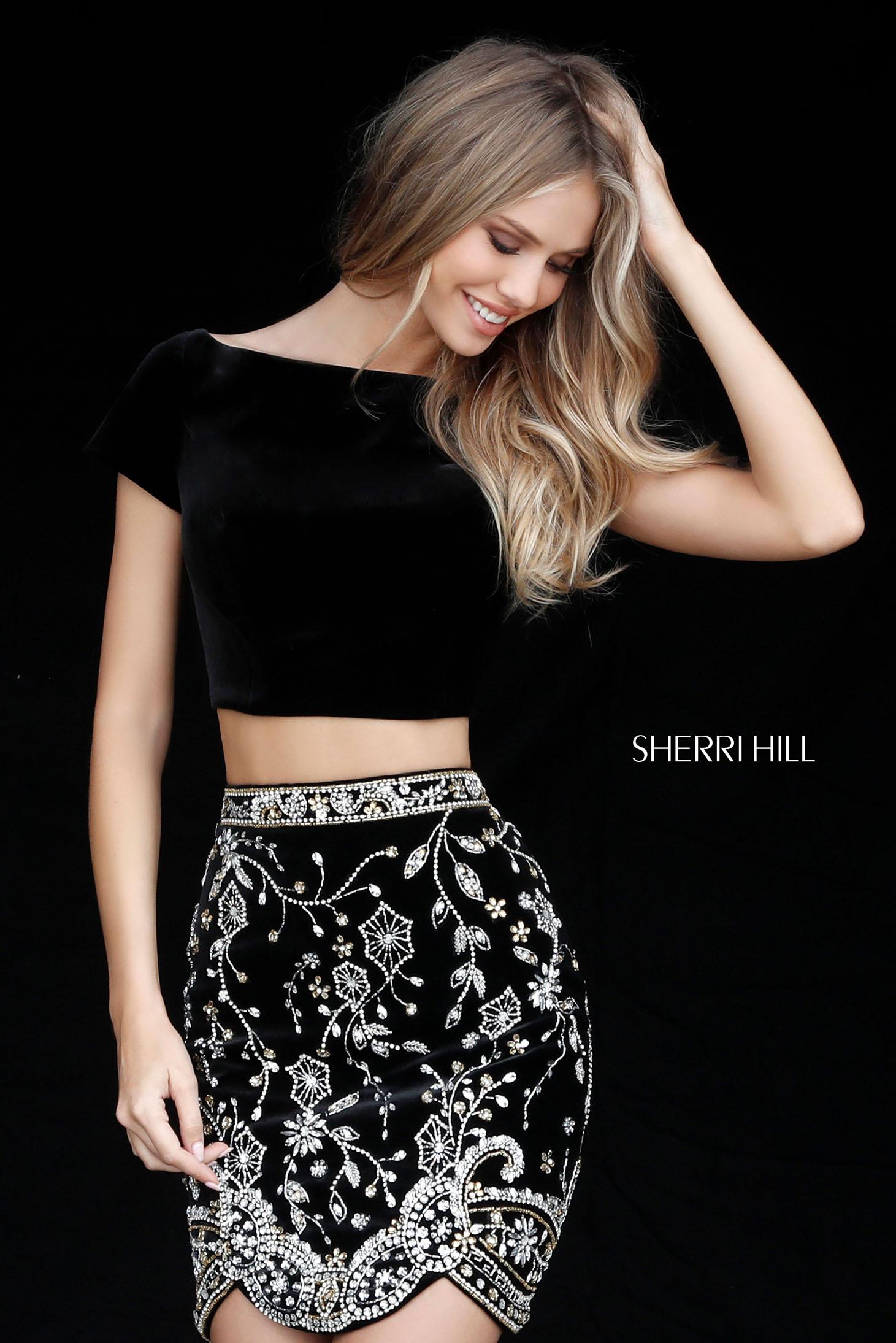 Rochie Sherri Hill 51493 Black