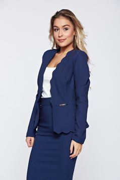 Fofy darkblue office elegant tented jacket with dots print