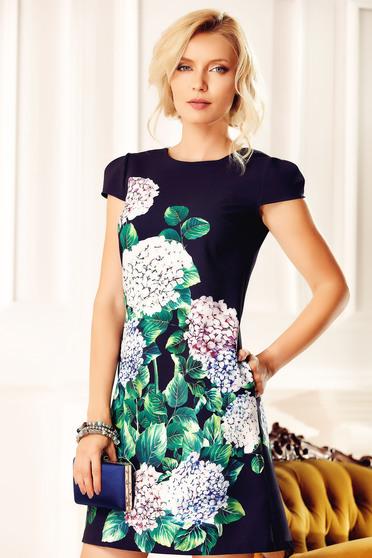 Easy cut Fofy darkblue elegant daily dress