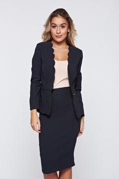 Fofy black skirt office elegant dots print