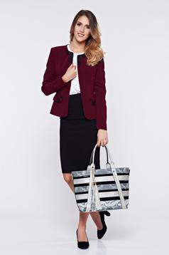 LaDonna burgundy office cloth set with embroidery details