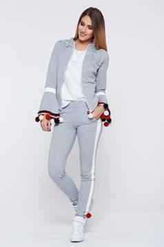 Ocassion grey set casual from 2 pieces with tassels