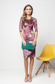 PrettyGirl burgundy daily dress with floral prints