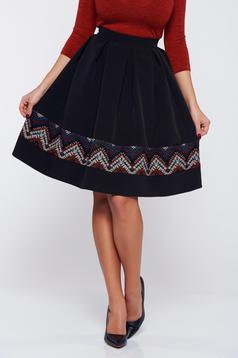 StarShinerS fall in love black office jacquard cloche skirt