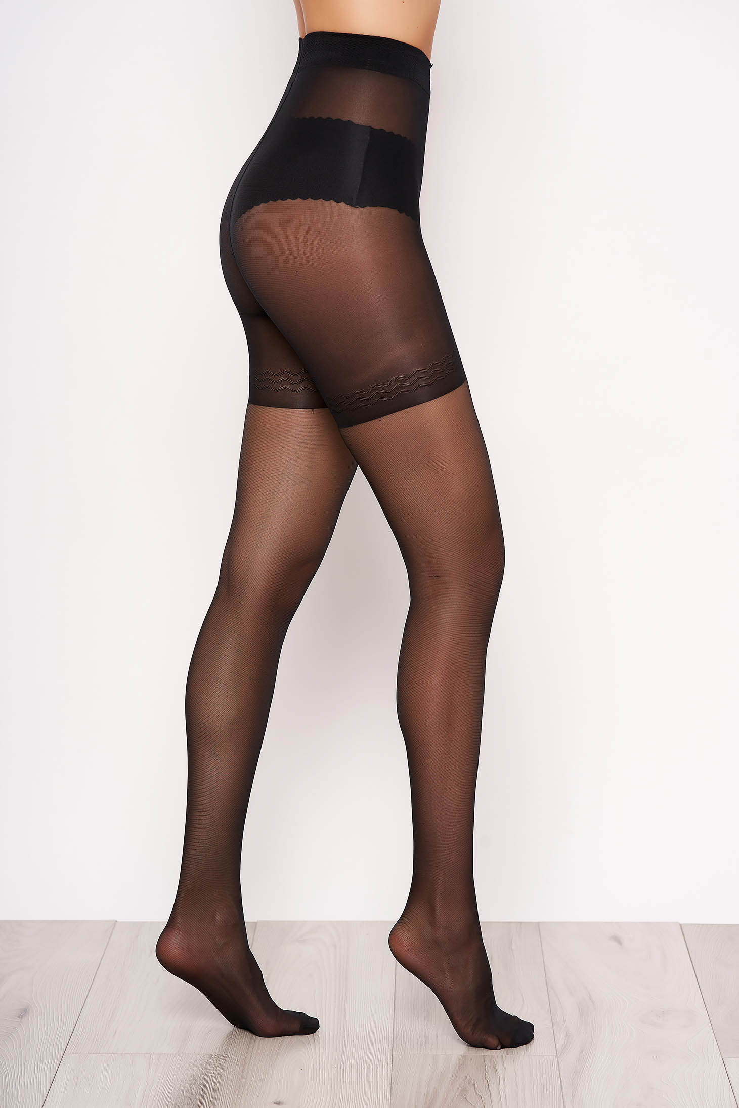 Black 20 den modeller women`s tights pressure-free border