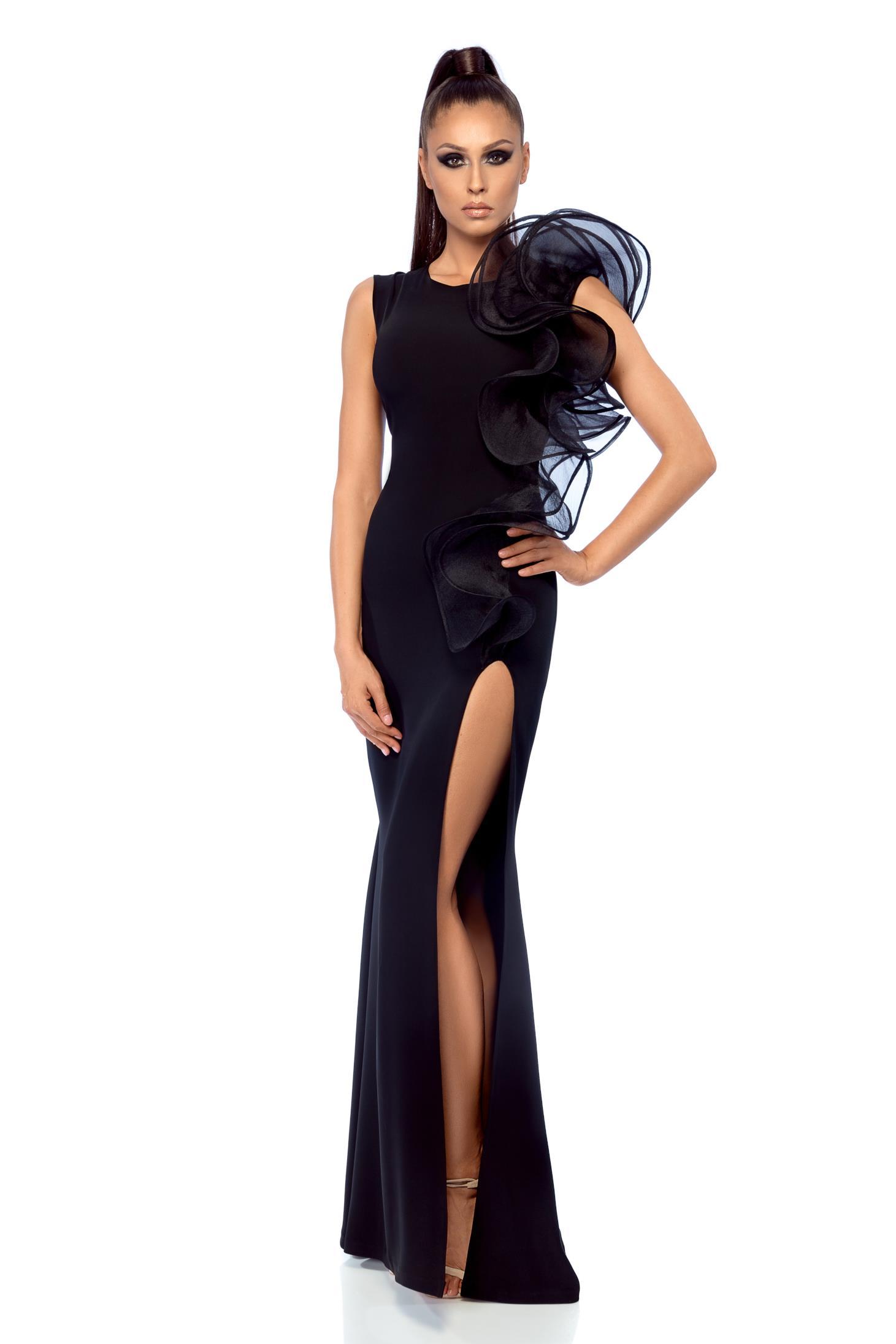 Fekete Ana Radu hosszú estélyi ruha 8681c610e6