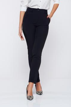 Artista black office conical trousers from cloth with medium waist