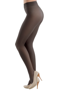 Black 20 den pressure-free border women`s tights shiny fabric