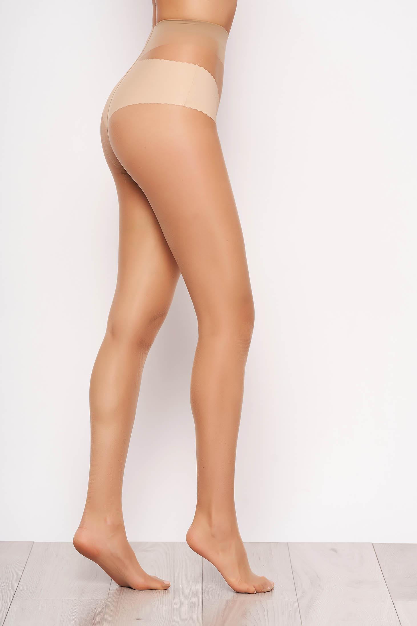 Dres dama nude 12 den din material elastic si fin calcai curbat
