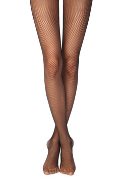 Black net stockings women`s tights elastic fabric