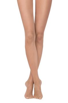 Nude fitted heel net women`s tights