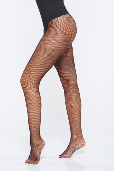 Black fitted heel net stockings women`s tights