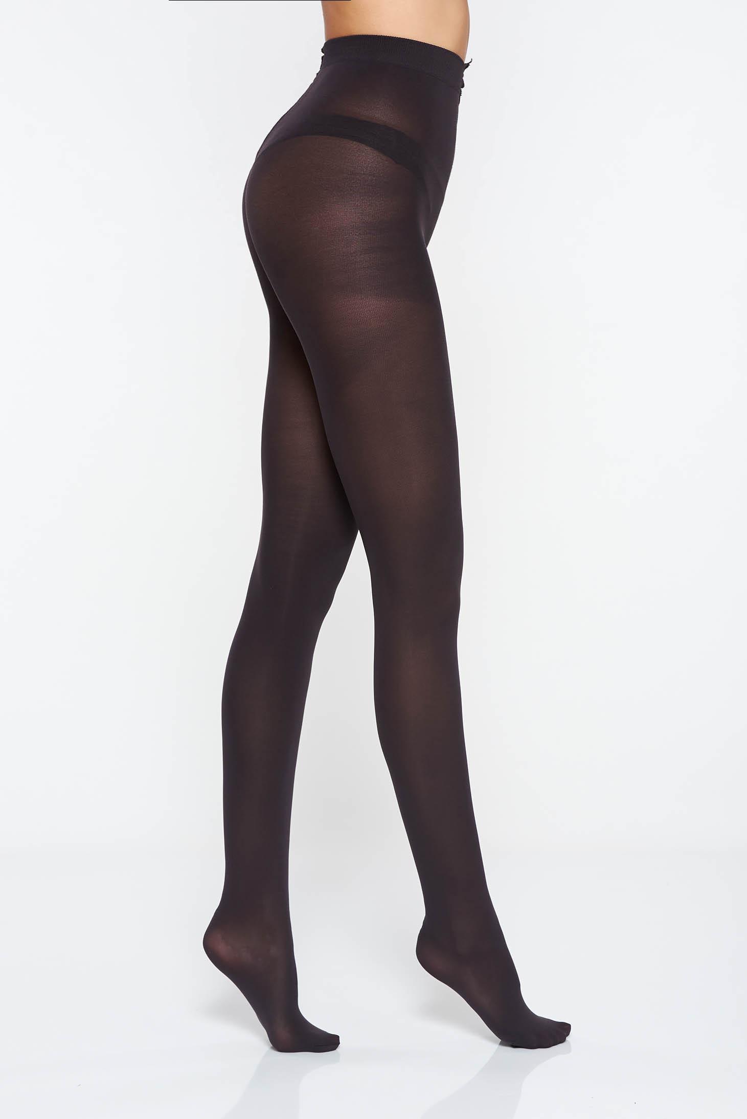 Dres dama negru mat 80 den cu banda elastica care nu aluneca