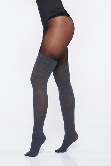 Grey tented cut women`s tights with flat seam