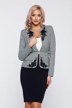 LaDonna black office elegant lady set with print details